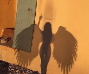 angel, grunge, and shadow image