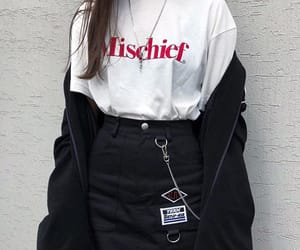 black, korean, and clothes image