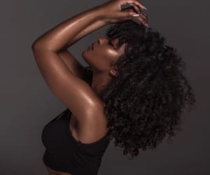 black woman, curly, and curly hair image