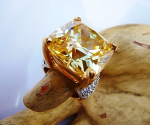 etsy, susan lucci estate, and faux citrine glass image