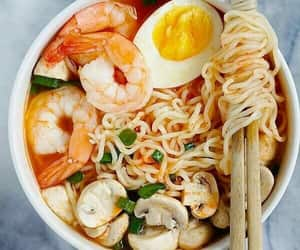food, yummy, and shrimps image