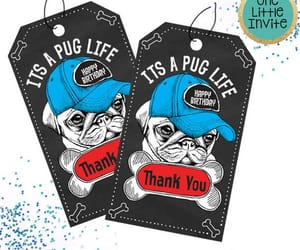 etsy, thank you card, and puglife image