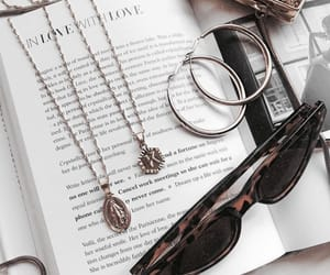 accessories, beauty, and book image