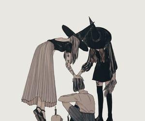 witch, art, and dark image