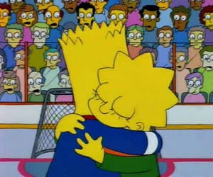 simpsons, bart, and brothers image
