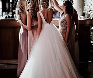 bride, wedding, and friends image