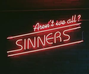 red, aesthetic, and sinner image