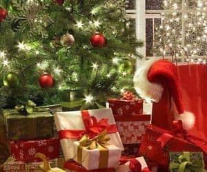 christmas, christmas tree, and christmas presents image