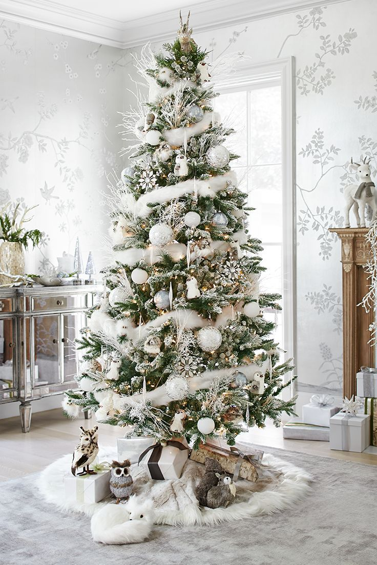 White Silver Christmas Tree On We Heart It