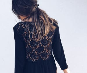 embroidery, floral, and romantic image