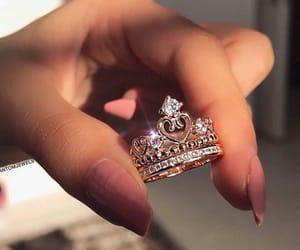 crown, princess, and hand image