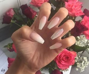 nails, inspiration, and flowers image