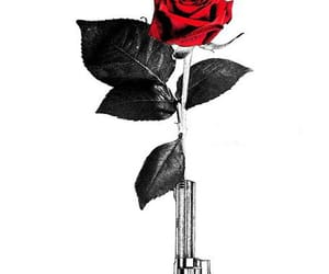 red, roses, and draw image