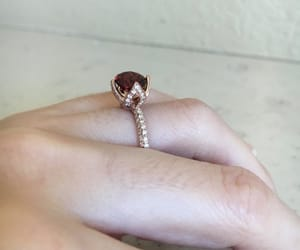 crystal, ring, and rose image