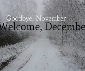 snow, hello december, and december wishes image
