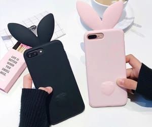 black, iphone, and pink image