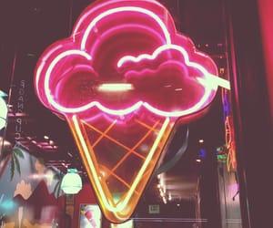 ice cream, light, and neon image