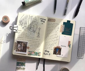 diary, journal, and writing image