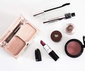 blush, mac lipstick, and makeup image