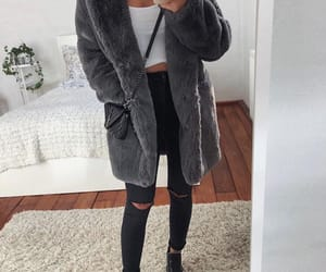cozy, fashion, and black bag image
