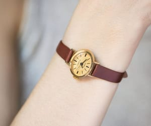 etsy, soviet women watch, and leather watch image