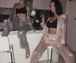 alcohol, outfit, and wine image