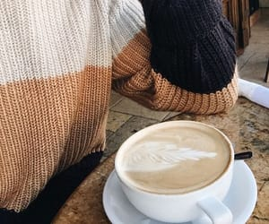 coffee, sweater, and autumn image