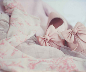 loop, pink bow, and bow image