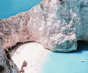 beach, blue, and travel image
