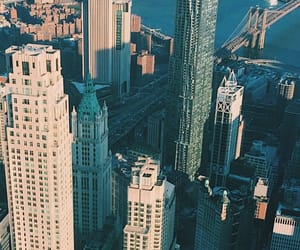 blue, buildings, and manhattan image