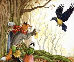bird, fairy tale, and forest creature image