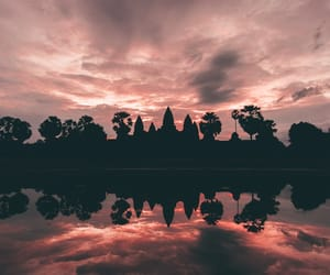 landscape, camboya, and pink image