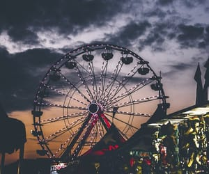 sky, theme park, and fortune wheel image