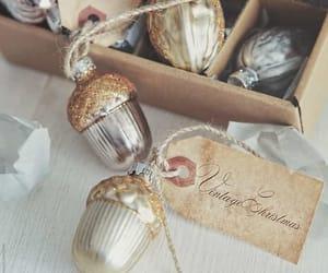 christmas, ornaments, and vintage image