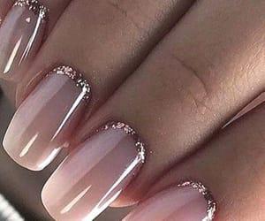 glitter, holiday season, and manicure image