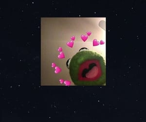 wallpaper, frog, and heart image