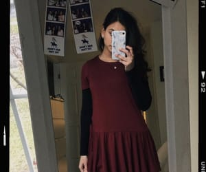 autumn, outfits, and burgundy image