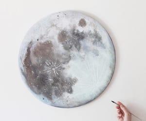 moon, art, and beautiful image