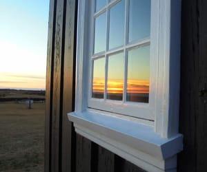 iceland, sunset, and window image