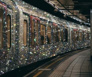 train, diamond, and glitter image