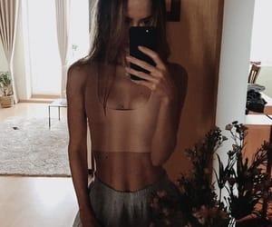 brown, girl, and plant image