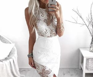 homecoming dress, sleeveless party dress, and party dress lace image