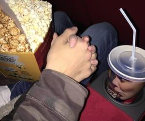 boyfriend, cinema, and cocacola image