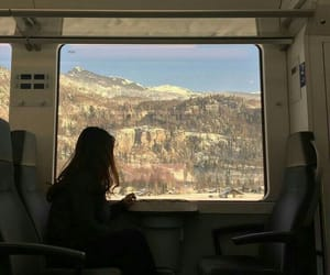 alternative, Moutains, and train image
