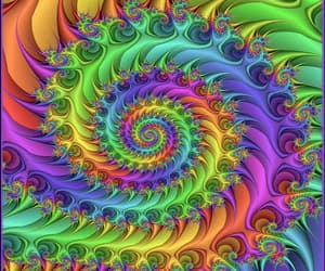 art, fractal, and purple image