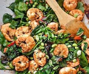 healthy and shrimps image