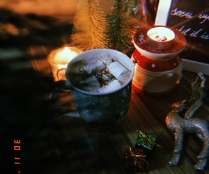 candle, christmas, and cold image