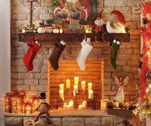 christmas, christmas lights, and living room image