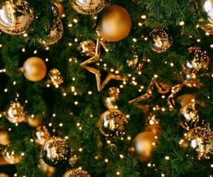 christmas, winter, and gold image
