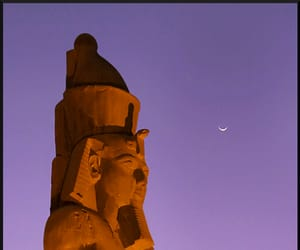 crescent moon, egypt, and luxor image